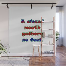"Funny ""Closed Mouth"" Joke Wall Mural"