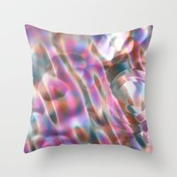 river Throw Pillows featuring River by tuditees