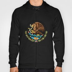 Mexican seal Authentic version set against an Adobe red background Hoody