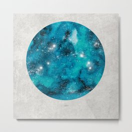 Aries zodiac constellation on the light background Metal Print
