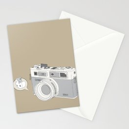 "Yashica Camera - ""Say Cheese"" - soft-brown Stationery Cards"
