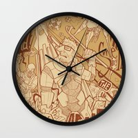 half life Wall Clocks featuring Half Life 2 tribute by Matteo Cuccato - Strudelbrain