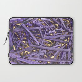 PURPLE KINDLING AND GLOWING EMBERS ABSTRACT Laptop Sleeve
