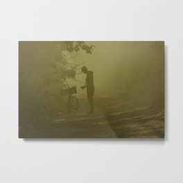 man in mist Metal Print