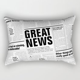 The Good Times Vol. 1, No. 1 / Newspaper with only good news Rectangular Pillow