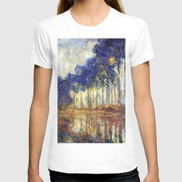 Poplars on the Bank of the Epte River by Claude Monet T-shirt