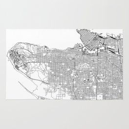 Vancouver White Map Rug