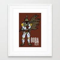 boba fett Framed Art Prints featuring Boba Fett by Twisted Dredz