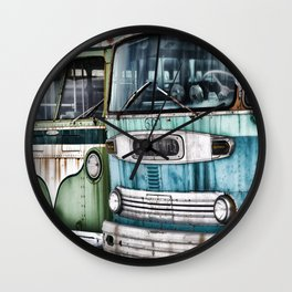 Old Buses Wall Clock