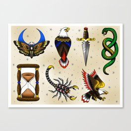 Traditional Flash Sheet 4 Canvas Print