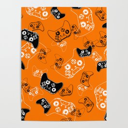 Video Game Orange Poster