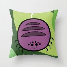 Cutesy Crawlies — Spider Throw Pillow