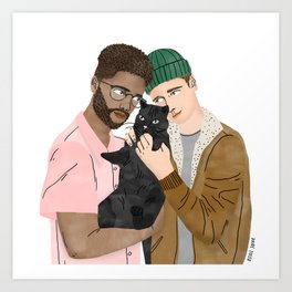 Cat Lovers Art Print