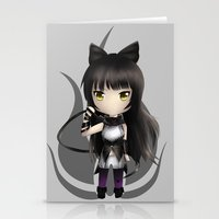 rwby Stationery Cards featuring Blake by Louiology