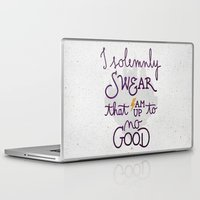 dumbledore Laptop & iPad Skins featuring I am up to no good by Earthlightened