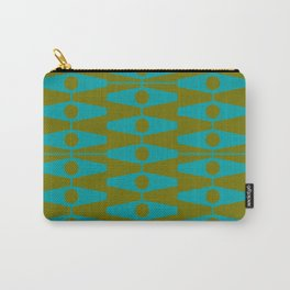abstract eyes pattern aqua olive Carry-All Pouch