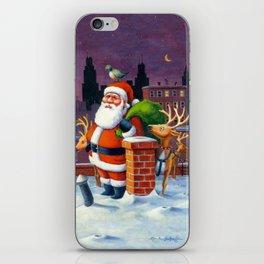 Santa's Tight Squeeze iPhone Skin