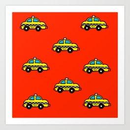 NYC Taxi Cabs Art Print