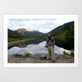 Photographer on Crystal Lake Art Print