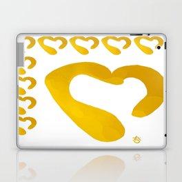 Gold Hearts on White - Love is Golden Laptop & iPad Skin