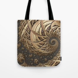 Fractal in Neutrals Tote Bag