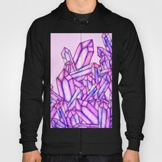 Pink purple watercolor paint crystals gem pattern Hoody