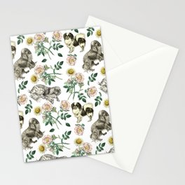 DOG ROSE & CAVALIER KING CHARLES SPANIEL  Stationery Cards