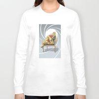 bond Long Sleeve T-shirts featuring Bond Girl by Fernando Cano Zapata