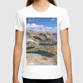 Image California USA Kings Canyon Sierra Nevada Nature mountain Sky Lake Scenery Clouds canyons Mountains landscape photography T-shirt