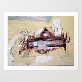 """Monotype"" Art Print"