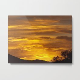 WAVES IN THE SUNRISE CLOUDS Metal Print