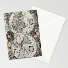 Antique World Map 1630 Stationery Cards