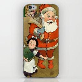 1901 Puck Magazine Christmas issue Santa children iPhone Skin
