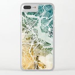 Boston Massachusetts Street Map Clear iPhone Case
