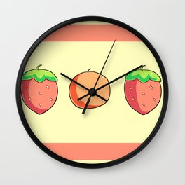 Strawberries and Oranges Wall Clock