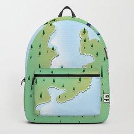 Sun Moon Lake Taiwan Map poster Backpack