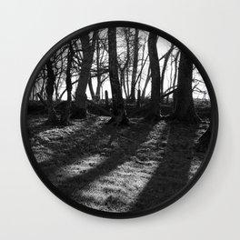 Railway Trees Wall Clock