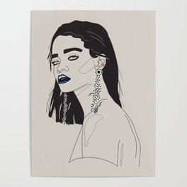 Rihanna blue Poster