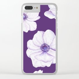 Anemones 2 Purple #society6 #buyart Clear iPhone Case