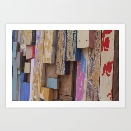 Paint Sticks Art Print