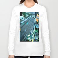swimming Long Sleeve T-shirts featuring Swimming by Robin Curtiss