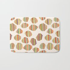 watercolor geometric lines Bath Mat