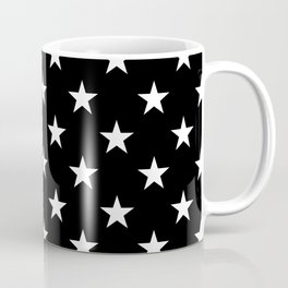 Stars (White/Black) Coffee Mug