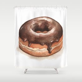 Chocolate Glazed Donut Shower Curtain