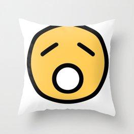 Smiley Face   Sad Sleepy Looking Throw Pillow