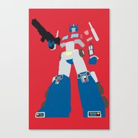 optimus prime Canvas Prints featuring Transformers G1 - Optimus Prime by TracingHorses