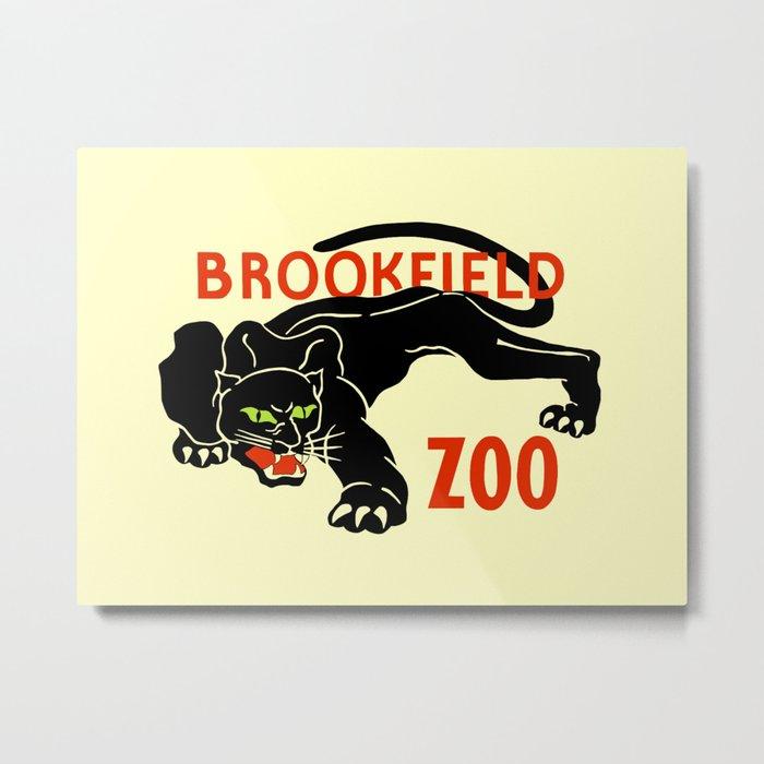 Black panther Brookfield Zoo ad Metal Print