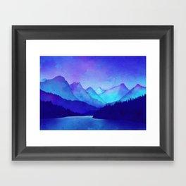 Cerulean Blue Mountains Framed Art Print