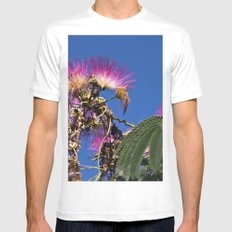 French flowering mimosa MEDIUM White Mens Fitted Tee