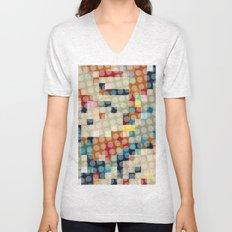 dots meet pixels Unisex V-Neck